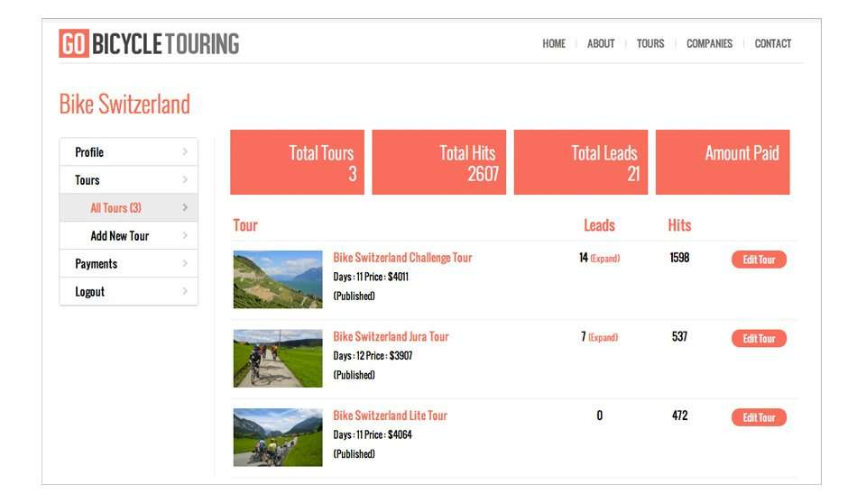 company login for gobicycletouring