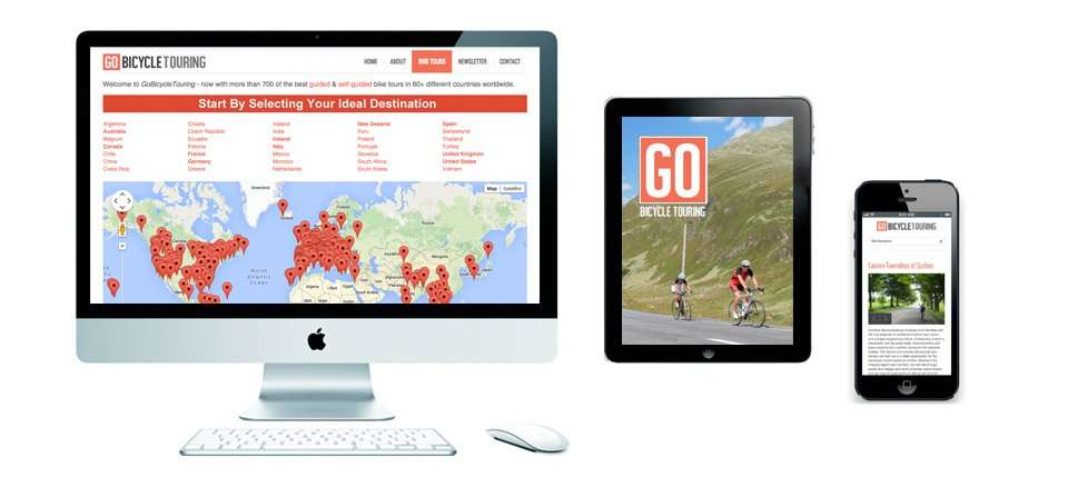 Go Bicycle Touring website